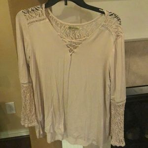 Tan peasant blouse